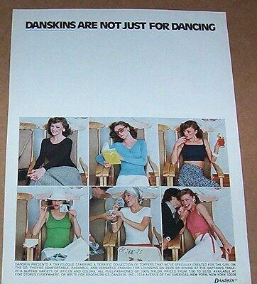 1975 vintage ad - Danskin -Girl on the Go- fashions Danskins print ADVERT PAGE