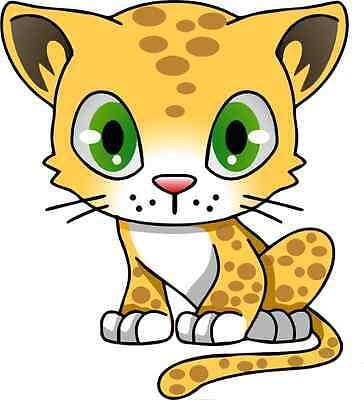 30 Custom Cartoon Leopard Personalized Address Labels