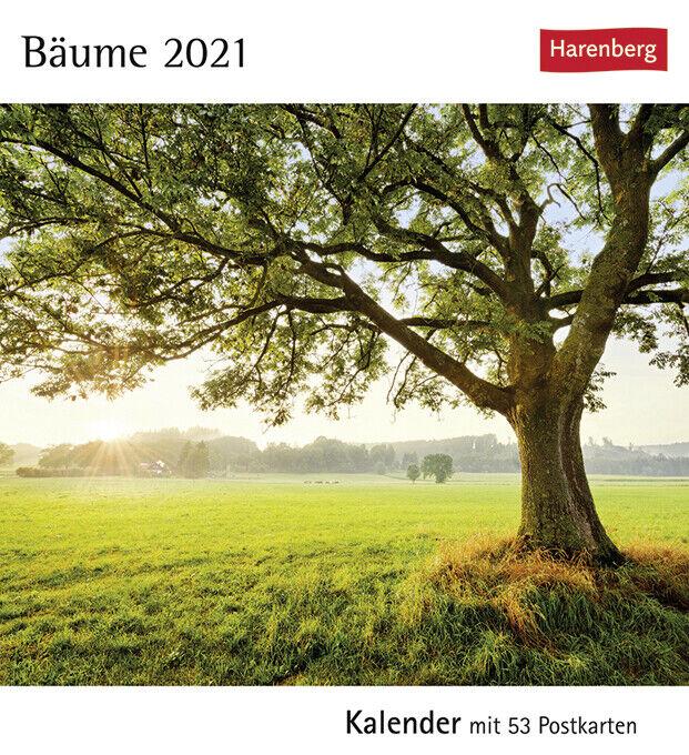 Harenberg Bäume Postkartenkalender Wochenkalender 2021 53 Postkarten