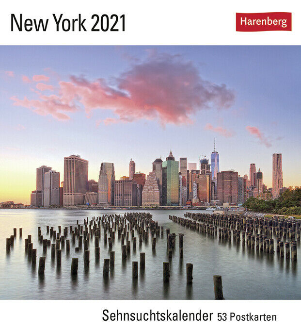 Harenberg New York Sehnsuchtskalender Postkartenkalender 53 Karten 2021