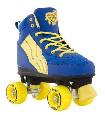 Rio Roller Pure Blue/Yellow Quad Roller Skates - 1 UK 33 EU