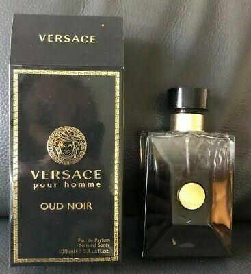 100ml Versace Oud Noir Spray Bottle And Box EMPTY