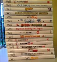 Wii Games All $5 or $40 for all 17 Games URGENT!