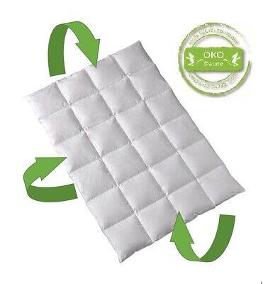 Öko Daune Winterdecke 100% Daune recycelt nachhaltig ökologisch 200x200 cm