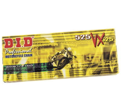 122753 Did 525Vx Series Pro Street X Ring Gold Black 525 Chain With 120 Links