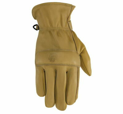 7238 Black Brand Men's Rally Tan Leather Motorcycle Gloves w/ Touch Screen  Tan Motorcycle Gloves