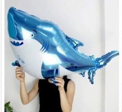 Large Shark Balloon Foil Mylar Birthday Party 36