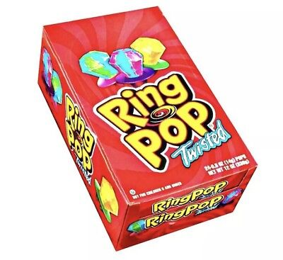 Ring Pops Bulk (Ring Pops Twisted 24 Count Candies Bulk Topps Candy Ring Pop)