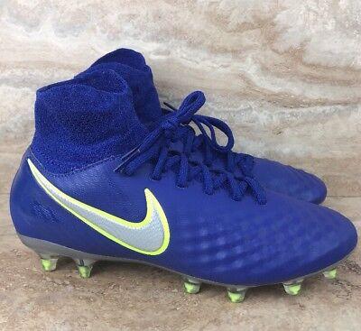 a3edc6f97 Nike Magista Obra II FG Soccer Cleats Royal Blue Jr Boys Youth Size 5Y
