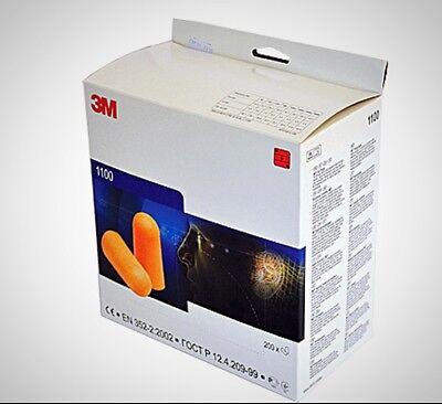 3m 1100 Orange Disposable Noise Reduction Foam Ear Plugs Snr 37db