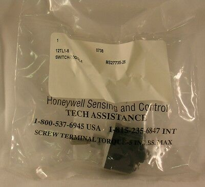 Honeywell Microswitch Toggle Switch 12tl1-8 Aka Ms27735-26 Nos