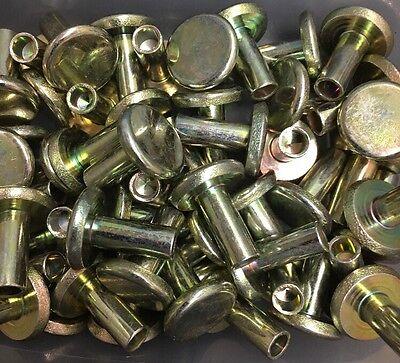 Semi-tubular Brake Lining Rivet Steel 14x58 18 Thick 58 Wide Head 100