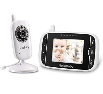 HelloBaby Video Baby Monitor with Night Vision Camera, LCD Screen, Temperature M