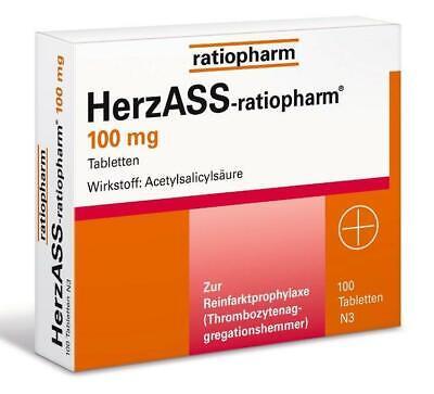 HerzAss- ratiopharm 100 mg Tabletten 100 St PZN: 4561936