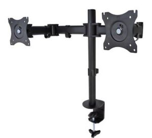 "Desk Mount For Dual Monitors LED/LCD 13"" - 27"""