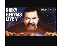 Ricky Gervais Humanity 2 Tickets