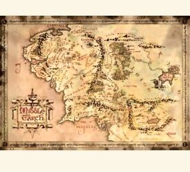 Lord of the Rings Limited Edition Map