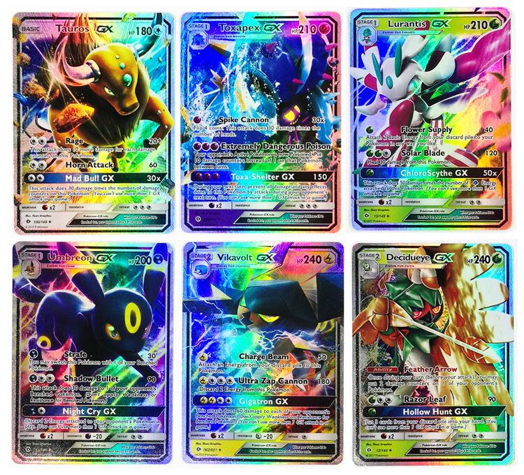 NeW Pokemon TCG :100 FLASH CARD LOT EX+GX+MEGA MIX CARD LOTS GUARANTEED FULL ART