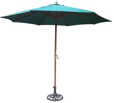 9' Rochester Market Umbrella - Color: Green, With Stand: Yes