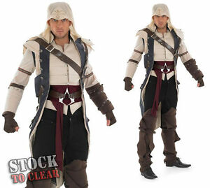 ADULT ASSASSINS CREED 3 COLONIAL ASSASSIN COSPLAY FANCY D