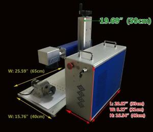 Fiber Laser Metal Marking Printer Engraving Machine (110V 20W) and Rotary Attachment  130070
