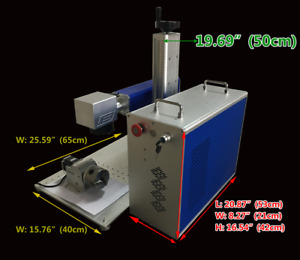 Fiber Laser Metal Marking Printer Engraving Machine (110V 20W)