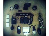 Canon 600 D + Lens + Accessories + Bag