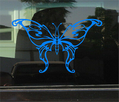 TRIBAL BUTTERFLY 8 INCH VINYL DECAL / -