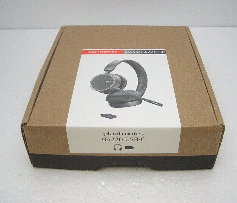 Plantronics Voyager 4220 Stereo Uc Bluetooth With Usb C Adapter Headset Ms Skype 17229164468 Ebay