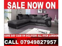 X MAS SALE FABRIC CORNER SOFA SUITE AVAILABLE IN 3 AND 2 SEATER SET