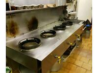 Chinese wok cooker catering equipment