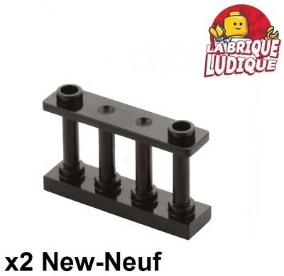 Lego 2x Tile plaque Modified 4x4 studs on edge marron// reddish brown 6179 NEUF