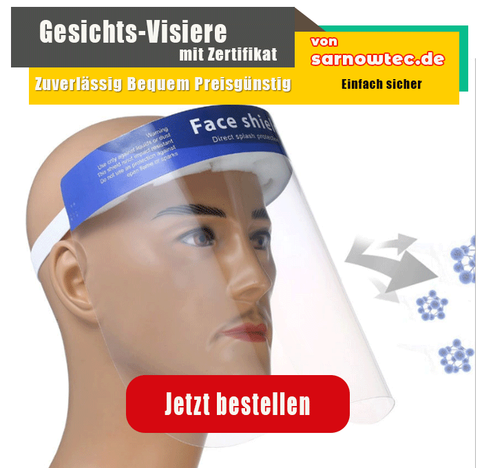 Gesichtsschutzschild Schutzvisier Visier Gesichtsschutz Schutzschild Face Shield