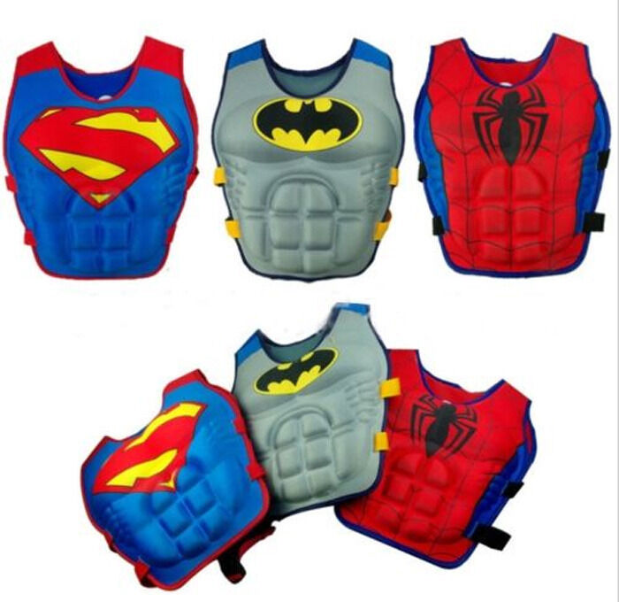 New Kids Swimming Floating Swim Vest Buoyancy Life Jacket Pool Tool For Batman Ebay