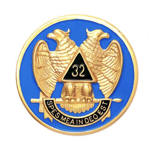 Consistory Scottish Rite 32nd. Degree  2 3/4 inch car emblem #C32