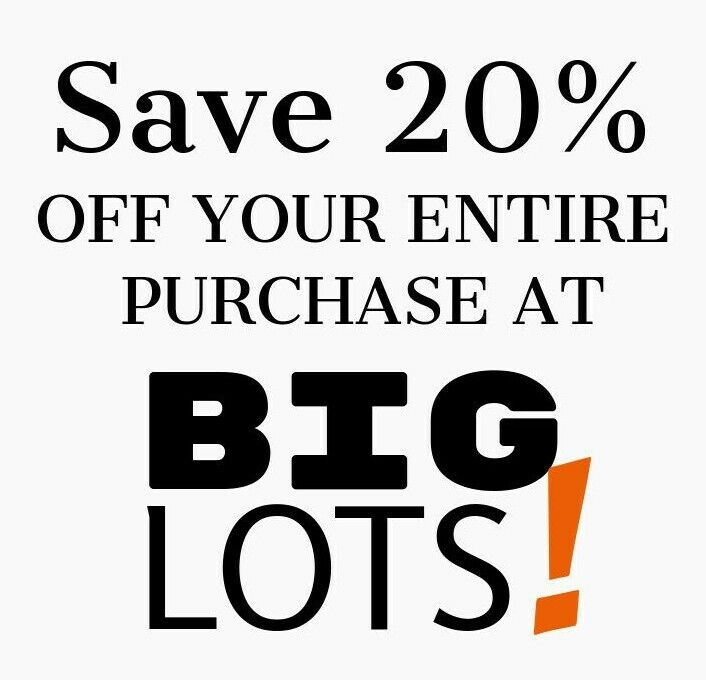 Big Lots 20 Off Entire Purchase Expires 11/05/21 - $19.95