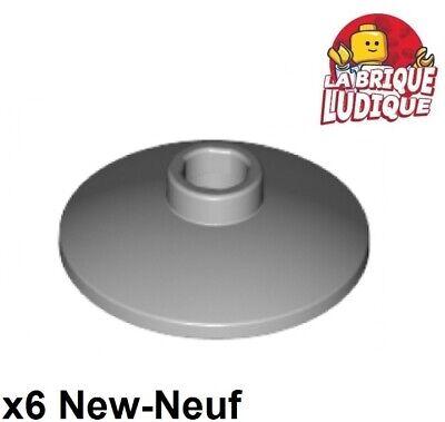 2x2 Light Gray Round w// Ridges Column Bricks  ~  Lego  ~ NEW ~ 6