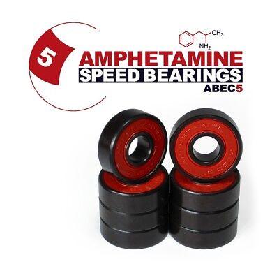AMPHETAMINE Speed Bearings Kugellager für Skateboard/Longboard ABEC-5 /