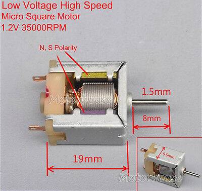 Dc 1.2v 35000rpm Low Voltage High Speed Square Mini Motor Thin Micro Dc Motor