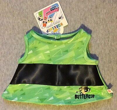 Build A Bear Powerpuff Girls Green Buttercup Dress NWT - Buttercup Outfit