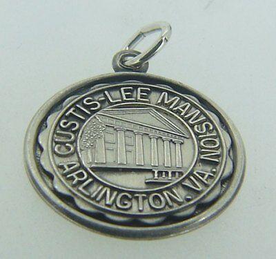 STERLING SILVER CURTIS LEE MANSION ARLINGTON VIRGINIA PENDANT / CHARM W33