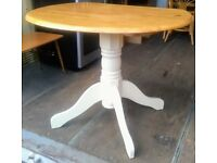 Solid pine kitchen drop leaf table