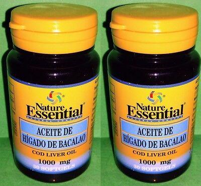 Aceite higado bacalao 1000 mg 2x30 perlas Salud Cardiovascular Trigliceridos