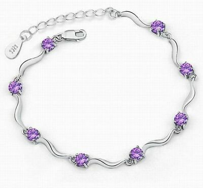 Women Fashion purple Silver Bamboo Crystal Rhinestone Cuff Bangle Bracelet New Bamboo Silver Bracelet Bangle