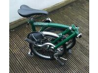 great condition British racing green brompton
