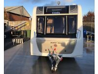 2017 Elddis Avante SoLiD 550 - Fixed Island Bed. Mint. Fitted Motor Mover.