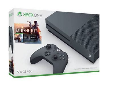 New Xbox One S Cheer up - 500gb Storm Grey Special Edition Battlefield 1 Bundle