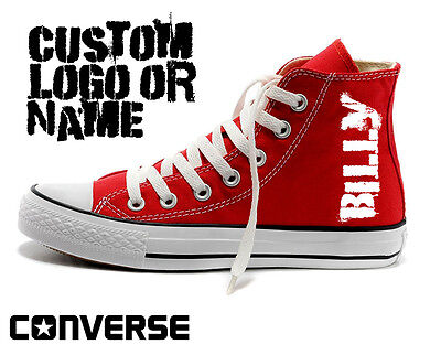 custom logo converse chuck taylor all star mens personalised  name hightops - Converse Personalised