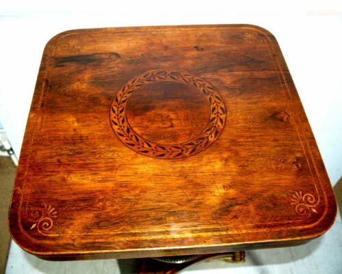 An Extremely Fine Quality Regency Rosewood And Gilt Occasional Table