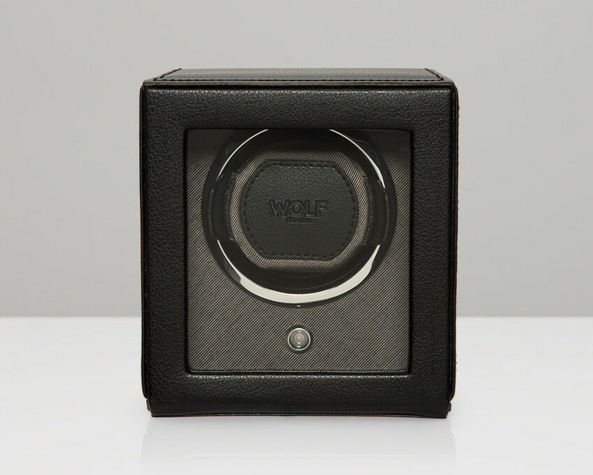 WOLF Cub Black Watch Winder With Glass Cover 461103 + Free U